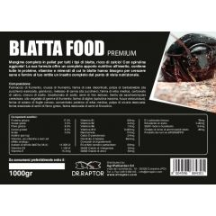 Dr.Raptor Premium Blatta Food - Mangime per Blatte 1000gr