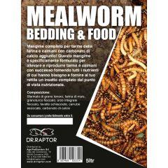 Dr.Raptor Mealworm Bedding and Food - Mangime d'allevamento per Tarme e Caimani 5 Litri