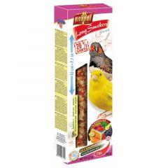 Vitapol Sticks Lunghi 3in1 per Canarini ed diamantini Semi selvatici/frutti di bosco/carota