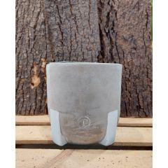 Vaso Cemento Jade 14x14cm
