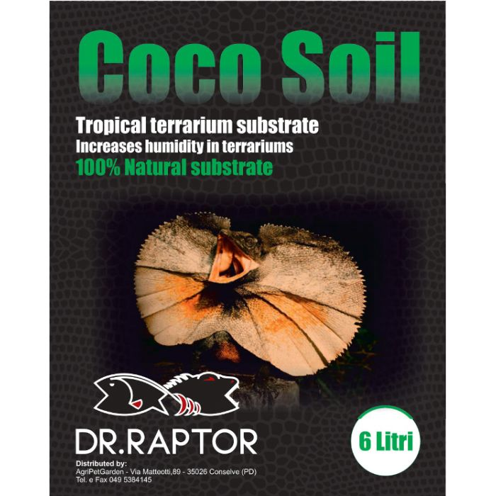 Dr.raptor Coco Soil 6lt 750gr. - Fibra Di Cocco