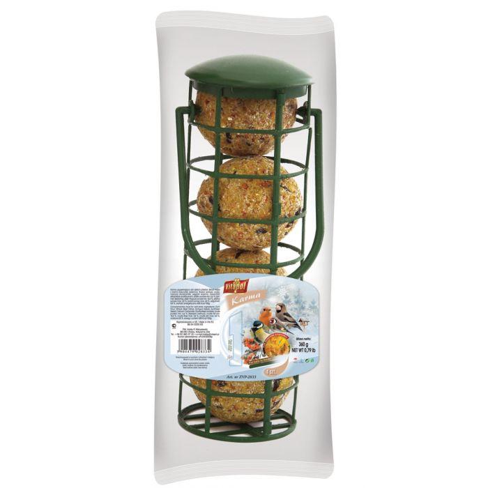 Vitapol Distributore completo di Palle di grasso per Uccelli selvatici