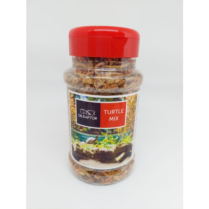Dr.Raptor Turtle Mix 500ml - Mangime con Insetti per Tartarughe d'acqua