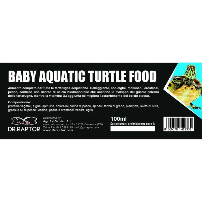 Dr.Raptor Baby Aquatic Turtle Food 100ml - Mangime per Tartarughe d'acqua