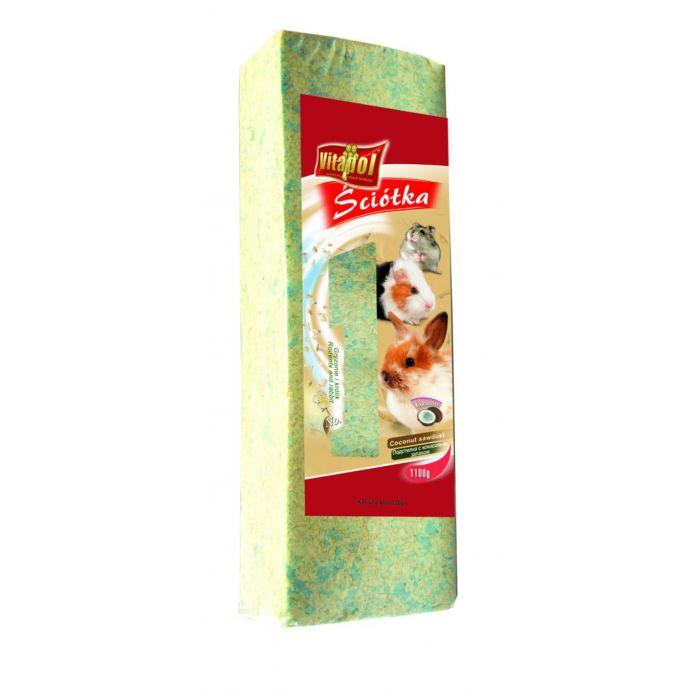 Vitapol - Lettiera di Trucioli di Legno Tenero COCCO 1,1kg 15 Litri