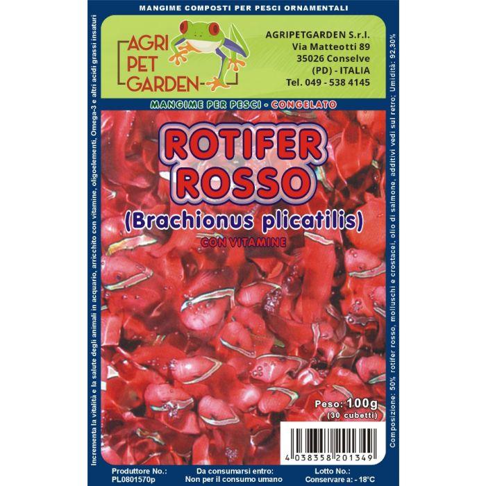 Rotiferi Rossi in Blister 100gr.
