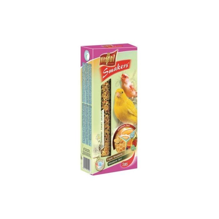 Vitapol Smakers 3in1 Canarini Miele/Uova/Frutta