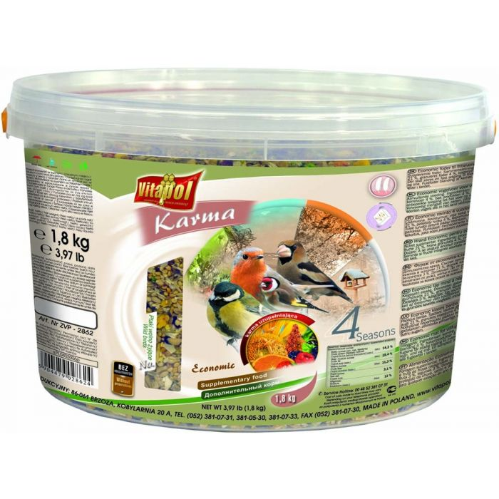 Vitapol Mangime per Uccelli selvatici 4 Seasons 3L 1,8kg